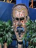 Het geschilderde masker van de inheemse mensen Stock Foto