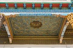 Het geschilderde plafond van de veranda in herdenkings complexe Bahou royalty-vrije stock fotografie