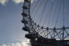 Het gesilhouetteerde oog van Londen Stock Afbeeldingen