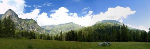 Het Geslacht van het Panorama van de berg stock foto