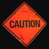 Het geslagen Teken van de Voorzichtigheid Stock Afbeelding