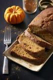 Het gesneden Brood van de Pompoen Royalty-vrije Stock Foto's
