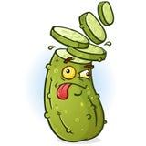 Het gesneden Hoofdkarakter van het Groenten in het zuurbeeldverhaal stock illustratie