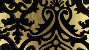 Het gesneden houten patroon stock footage