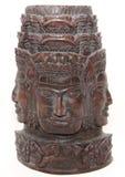 Het gesneden standbeeld van Wat van Angkor hand Stock Afbeeldingen
