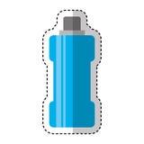 Het geïsoleerde pictogram van het flessenwater gymnastiek Royalty-vrije Stock Fotografie