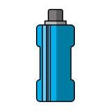 Het geïsoleerde pictogram van het flessenwater gymnastiek Stock Foto