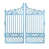 Het geïsoleerded staal verfraaide barokke poortvector Royalty-vrije Stock Afbeelding