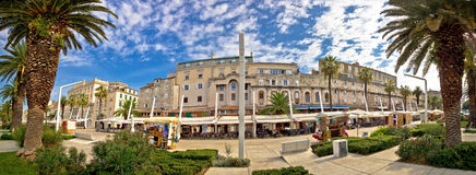 Het gespleten panorama van Riva watefront Stock Foto