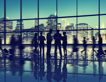 Het Gesprek Team Working Together van de bedrijfsmenseninteractie Stock Fotografie