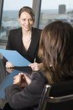 Het gesprek van de baan Stock Fotografie