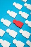 Het gesprek van de rekruutcarri?re, menselijke huur, werkgeversvaardigheid De manager hervat royalty-vrije stock foto
