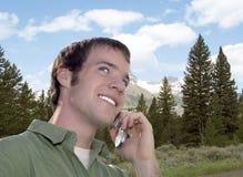 Het Gesprek van de Telefoon van de cel Royalty-vrije Stock Foto's