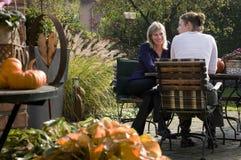 Het gesprek van de tuin Royalty-vrije Stock Afbeeldingen
