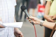 Het gesprek van media Royalty-vrije Stock Foto's