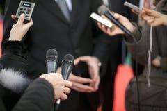 Het gesprek van media Stock Afbeelding