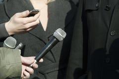 Het gesprek van media Royalty-vrije Stock Fotografie