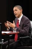 Het gesprek van Obama van Barack Stock Afbeeldingen