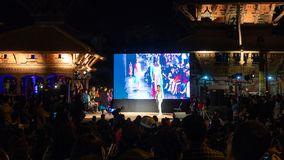 Het gesprek van Prabalgurung bij het festival van Fotokatmandu 2018, in Klopje stock afbeelding