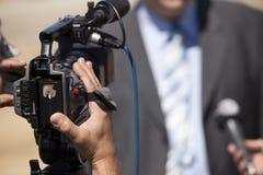 Het gesprek van TV Royalty-vrije Stock Fotografie