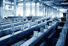 Het gestapelde staal van de staalfabriek royalty-vrije stock foto