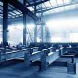 Het gestapelde staal van de staalfabriek royalty-vrije stock foto's