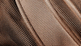 Het gestikte beeld van de stoffentextuur dicht Stock Foto