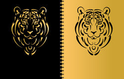 Het gestileerde silhouet van de tijger, symbooljaar Royalty-vrije Stock Afbeelding