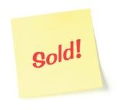 Het gestileerde Verkochte Rood van de Nota Royalty-vrije Stock Foto