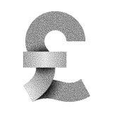 Het gestippelde pictogram van het pond Sterlingteken Het symbool van de pondmunt Vector illustratie Royalty-vrije Stock Fotografie