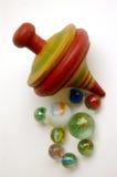 Het gestreepte Houten Marmer van de Bovenkant en van het Glas Royalty-vrije Stock Fotografie