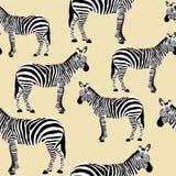 Het gestreepte Naadloze Oppervlaktepatroon, Zwart-witte Zebras herhaalt Patroon voor Textielontwerp, Stoffendruk, Stationair, Ver stock illustratie