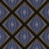 Het gestreepte naadloze patroon van de rooster 3d ruit royalty-vrije illustratie