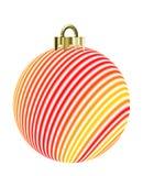 Het gestreepte Ornament van Kerstmis Stock Foto