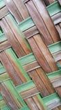 het gestreepte patroon van het kokosnotenblad Stock Foto