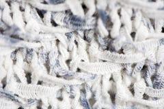 Het gestreepte roze kleurrijke wit breit stoffentextuur, gebreid geklets stock afbeeldingen
