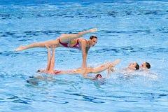 Het gesynchroniseerde zwemmen - Spanje Stock Fotografie