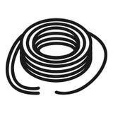 Het getelegrafeerde pictogram van de machtskabel, eenvoudige stijl royalty-vrije illustratie