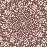 Het getrokken beige patroon van de fantasiebloem hand stock illustratie
