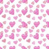 Het getrokken patroon De gelukkige kaart van de valentijnskaartendag Royalty-vrije Illustratie