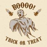 Het getrokken spook van Halloween hand Stock Afbeelding