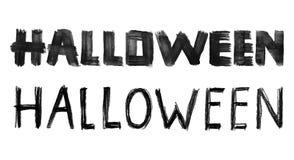 Het getrokken van letters voorzien van Halloween hand Stock Foto's