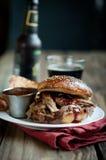 Het Getrokken Varkensvlees van Apple Cider Stock Fotografie