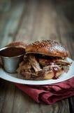 Het Getrokken Varkensvlees van Apple Cider Stock Afbeelding