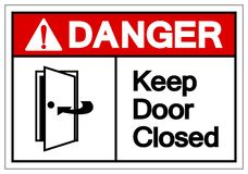 Het gevaar houdt Deur Gesloten Symboolteken, Vectorillustratie, isoleert op Wit Etiket Als achtergrond EPS10 vector illustratie