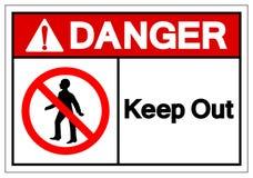 Het gevaar houdt Symboolteken, Vectorillustratie weg, isoleert op Wit Etiket Als achtergrond EPS10 vector illustratie