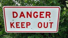 Het gevaar houdt Teken weg Royalty-vrije Stock Afbeelding