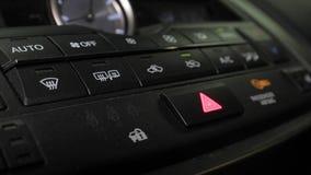 Het gevaar steekt Dashboard aan stock footage