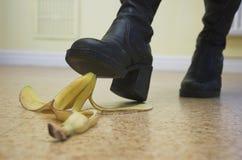 Het Gevaar van de banaan! Stock Foto