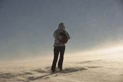 Het gevaar van de blizzard Stock Foto's